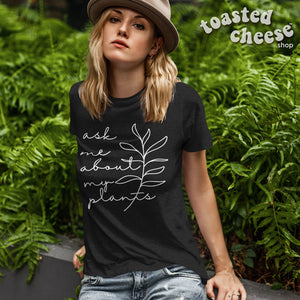 Ask Me About My Plants Vintage Tri-Blend Tee