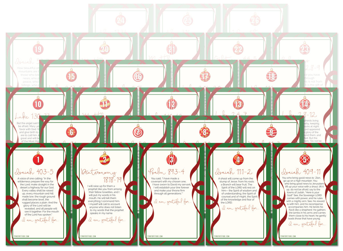 50% Off Advent Scripture + Gratitude Printables Taken at Checkout