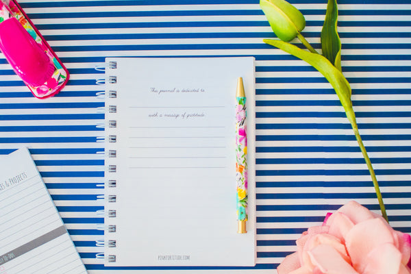 Lined Journal - Navy Blue - PinkFortitude
