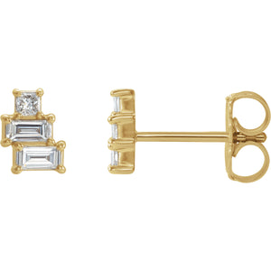Geo Diamond Stack Earrings