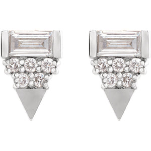 Geo-Triangle Diamond Earrings