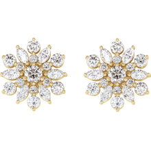 Load image into Gallery viewer, Diamond Starburst Earrings