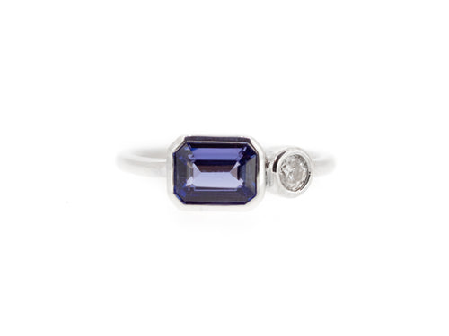 Tanzanite & Diamond Couple Ring