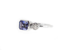 Load image into Gallery viewer, Tanzanite & Diamond Couple Ring