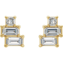 Load image into Gallery viewer, Geo Diamond Stack Earrings