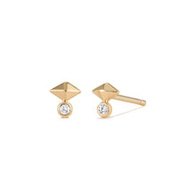 Load image into Gallery viewer, GIZA | Pyramid Diamond Studs