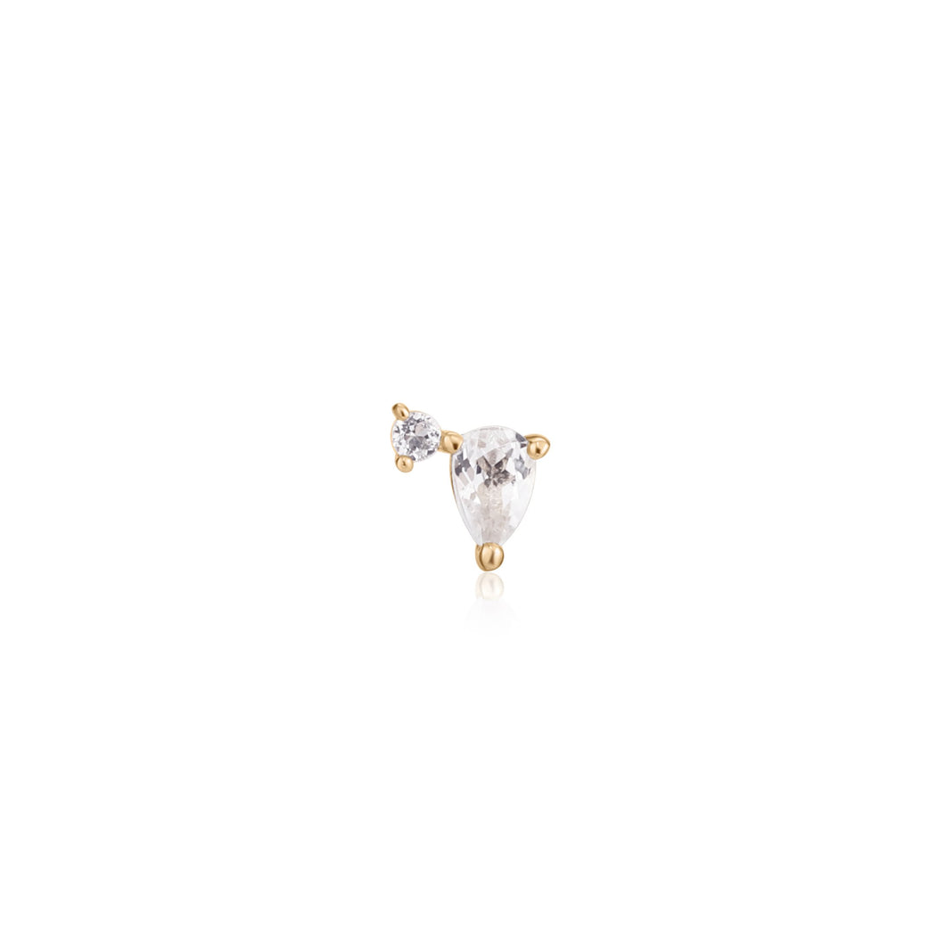 KIRA | Single Topaz Pear Stud