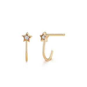 WISH | Diamond Star Huggie Studs