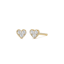 Load image into Gallery viewer, SOPHIE | Diamond Heart Studs