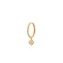 Load image into Gallery viewer, SOPHIE | Single Diamond Heart Hoop