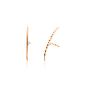 ELIZABETH | Diamond Arc Earrings