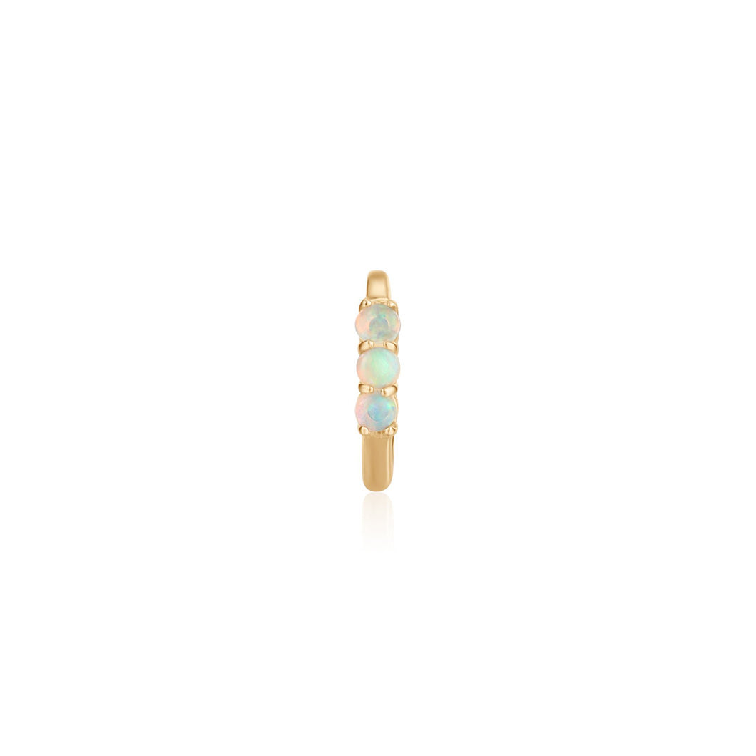 TARA | Single Opal Huggie Hoop