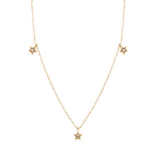 Load image into Gallery viewer, LYRA | Triple Diamond Star Necklace
