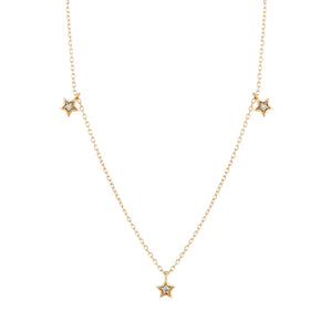 LYRA | Triple Diamond Star Necklace