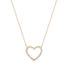 Load image into Gallery viewer, EMMA | Open Diamond Heart Necklace