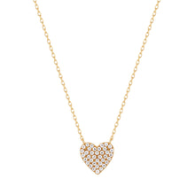 Load image into Gallery viewer, ELSIE | Diamond Pave Heart Necklace