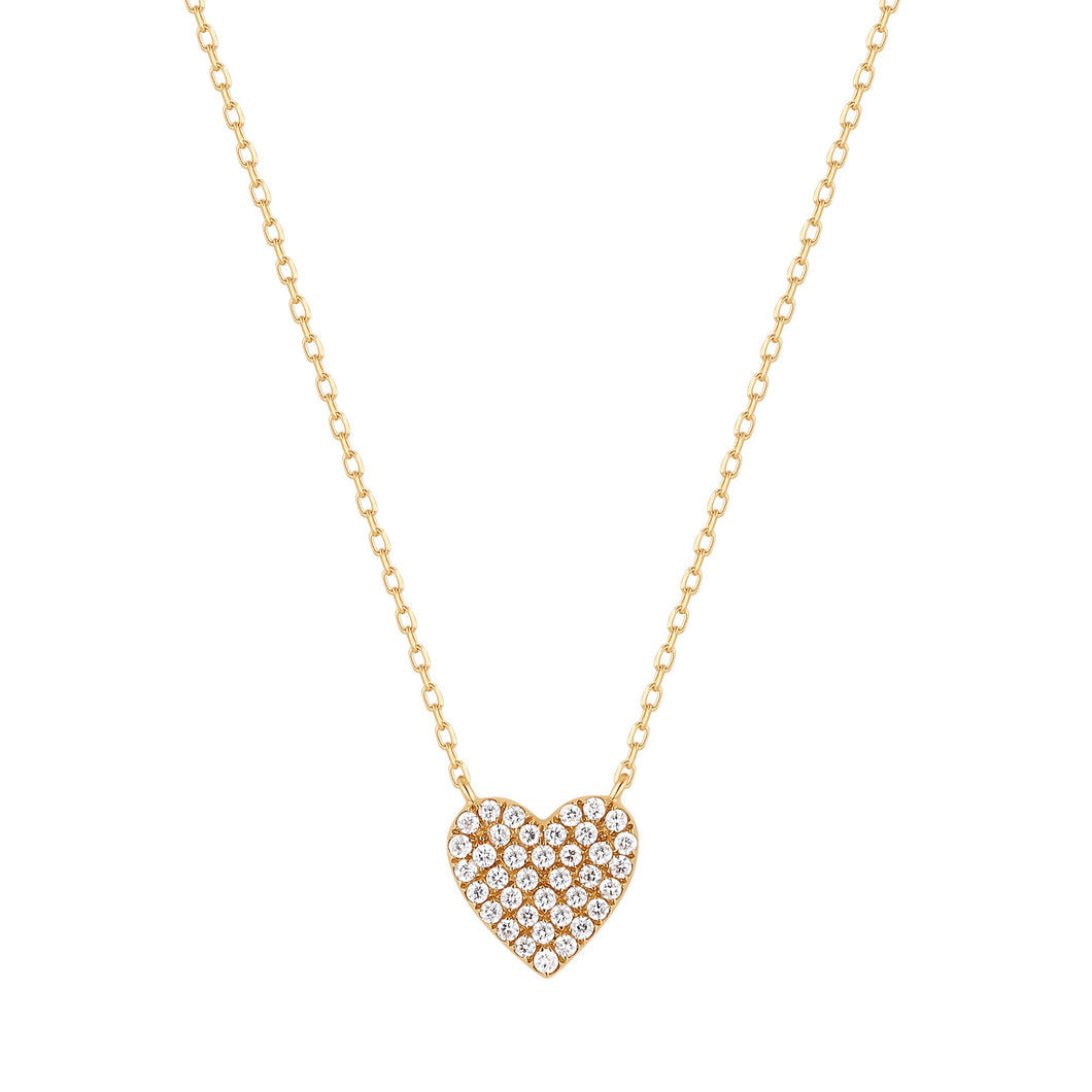 ELSIE | Diamond Pave Heart Necklace