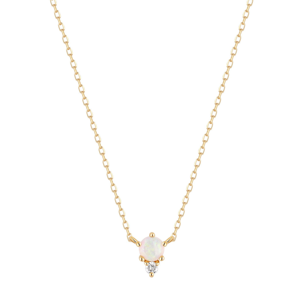 ZENA | Opal and Diamond Necklace