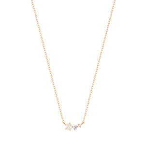 ZARA | Opal and Diamond Necklace