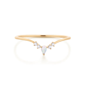 TIARA | Opal and Topaz Ring