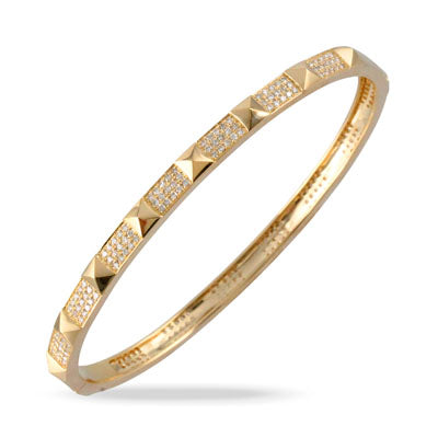Tri Diamond Bangle