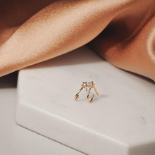Load image into Gallery viewer, WISH | Diamond Star Huggie Studs