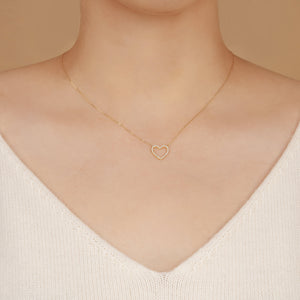 EMMA | Open Diamond Heart Necklace