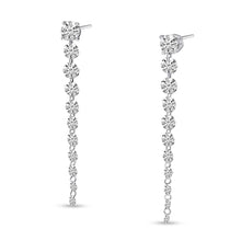 Load image into Gallery viewer, Graduated Dashing Diamond Earrings 2.5cts