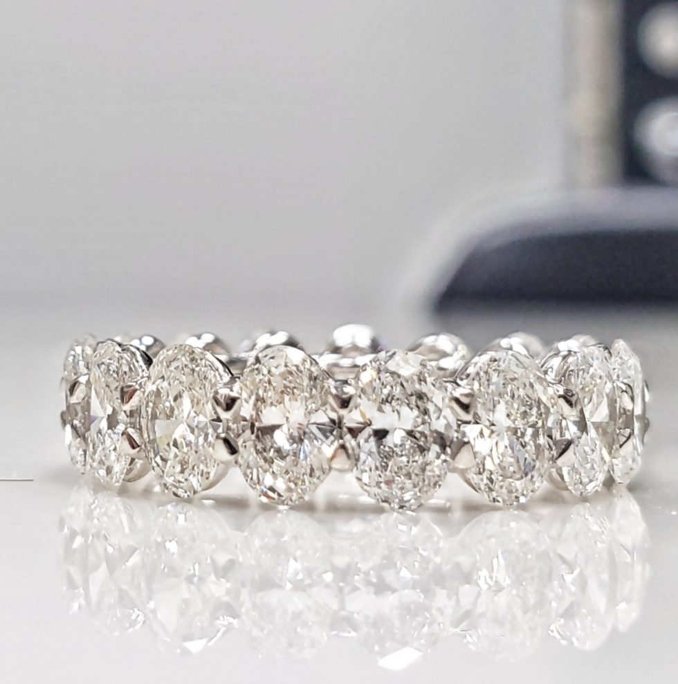 Oval Diamond Eternity Ring