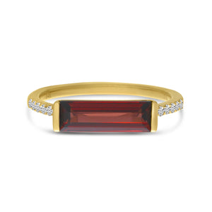 Gemstone Bar Ring