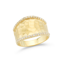 Load image into Gallery viewer, diamond diana ring yellow