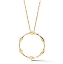Load image into Gallery viewer, Diamond ophelia necklace yellow gold