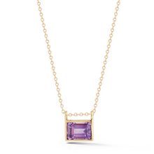 Load image into Gallery viewer, 14kt amethyst necklace