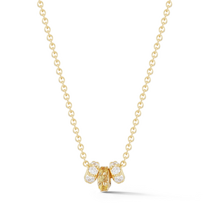 Yellow Sapphire thea necklace