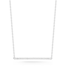 Load image into Gallery viewer, mini diamond bar necklace white gold