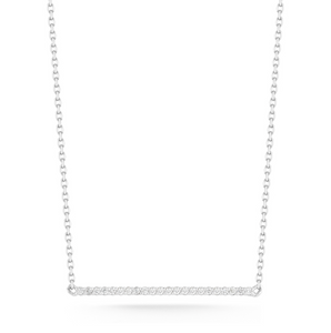 mini diamond bar necklace white gold
