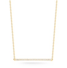 Load image into Gallery viewer, mini diamond bar yellow gold