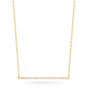 mini diamond bar yellow gold