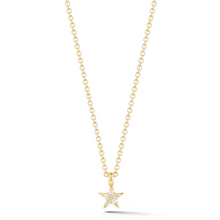 Load image into Gallery viewer, Yellow gold star necklace