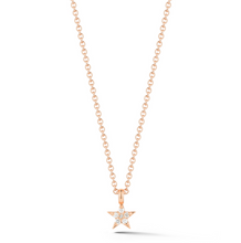 Load image into Gallery viewer, Rose gold Star Necklkace
