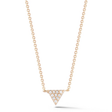 Load image into Gallery viewer, petite Diamond triangle necklace