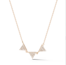 Load image into Gallery viewer, Petite triple diamond necklace