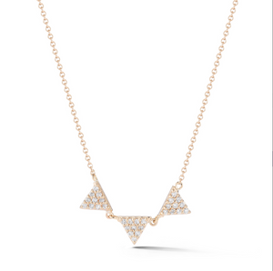 Petite triple diamond necklace