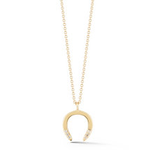 Load image into Gallery viewer, horseshoe diamond pendant