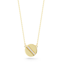 Load image into Gallery viewer, Diamond Token Yellow necklace