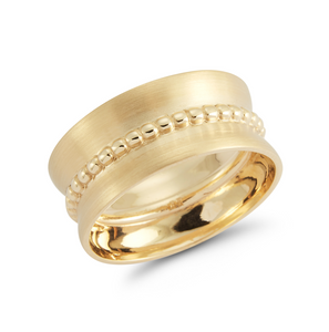 Yellow gold rhys ring