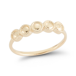 yellow gold stacker ring