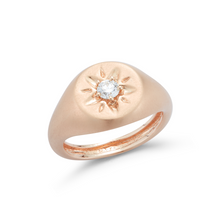 Load image into Gallery viewer, Rose gold Signet ring