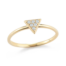 Load image into Gallery viewer, diamond triangle stacker ring
