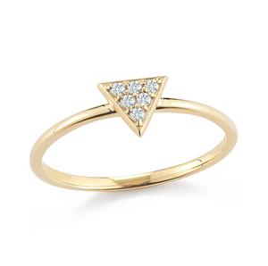 diamond triangle stacker ring